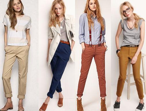 с чем носить брюки чинос