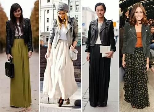 С чем носить длинные юбки весной