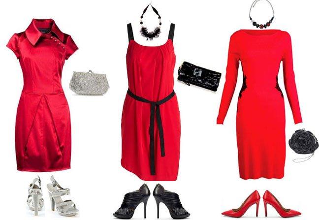 Какие туфли выбрать под красное платье