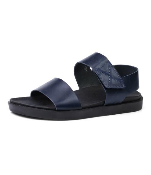 1e1bf6bd2133 Купить Мужские кожаные синие сандалии на липучках за 1490 грн. недорого
